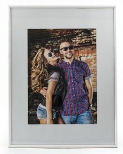 Bilderrahmen in weiß Passepartout Fotorahmen Format 15x20cm Rahmen