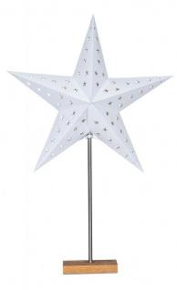 LED Stern B x H 43x67cm Weihnachtsstern Standfuß Deko Lampe Leuchte Tischlampe