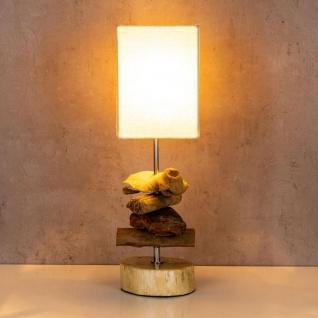 Tischlampe 15 x 50 x 15 cm Treibholz Tischleuchte Holz Lampe Teakholz Deko - Vorschau 3