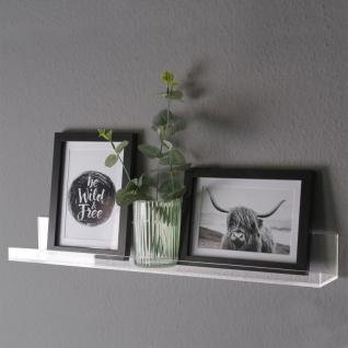 Bilderleiste 50x8cm Acryl Transparent Acrylleiste Ablage Regalboard Galerieboard