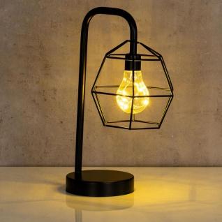 levandeo Tischlampe Metall Schwarz LED 33cm Hoch Lampe Standleuchte Leuchte Deko - Vorschau 4
