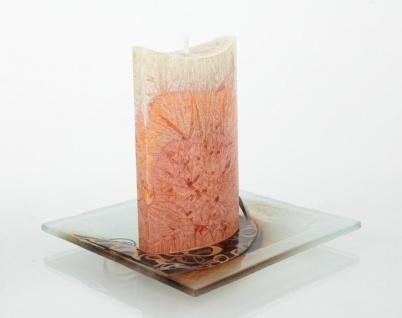 Design Kerzenteller Gold Sign Kerzenhalter aus Glas mit Carolin Kerze