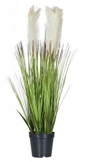 Kunstblume 12x70cm Gräser Ziergras Grün Zimmerpflanze Kunstpflanze Tischdeko