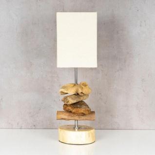 Tischlampe 15 x 50 x 15 cm Treibholz Tischleuchte Holz Lampe Teakholz Deko - Vorschau 2