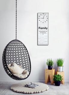 Wanduhr aus Glas 20x60cm Uhr als Glasbild Family Love Life shabby chic - Vorschau 2