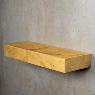 levandeo Wandregal Holz Massiv 60x20cm Eiche Farbig Wandboard Regal Vintage - Vorschau 4