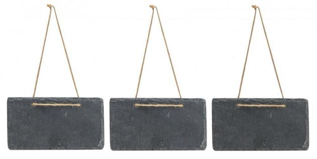 3x Schiefertafel 17x9cm Kreidetafel Schieferplatte Tafel Memotafel Türschild - Vorschau 2