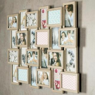 levandeo Bilderrahmen Collage 84x57cm 24 Fotos 10x15 Eiche gekälkt Holz MDF Glas - Vorschau 2