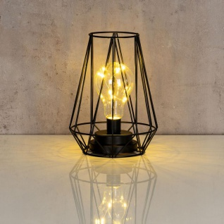 levandeo Tischlampe Metall Schwarz LED 17x24cm Lampe Standleuchte Leuchte Deko - Vorschau 4