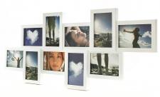 Bilderrahmen Collage weiß für 10 Fotos Fotogalerie Fotocollage Galerie