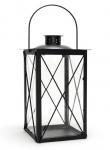 Laterne aus Metall schwarz - Windlicht Metalllaterne Gartenlaterne