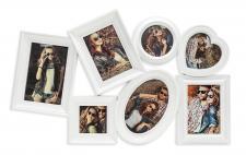 Fotogalerie Mix weiß 7 Fotos Bilderrahmen Fotocollage Collage Herz