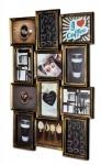 levandeo Bilderrahmen Collage 54x72cm 12 Fotos 13x18cm Kupfer Schwarz Glas