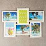 levandeo Bilderrahmen Collage 45x31cm 6 Fotos 10x15 Ahorn MDF Holz Glasscheiben