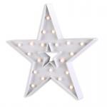 LED Leuchtstern 38, 5x37cm Weiß Stern Beleuchtung Weihnachten