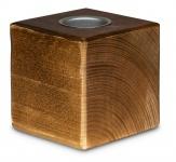 levandeo Teelichthalter Holz Massiv 10x10cm Nussbaum Farbig Kerzenständer Deko