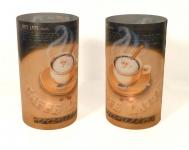 2er Set Kerzenschirme für Teelicht Windlicht - Cafe Latte