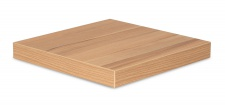 levandeo Eckregal Kernbuche 32x32cm Wandregal Holz Dekor Regal Eckboard