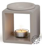 duftlampe schwarz aus holz und keramik llampe aromalampe aromaspender kaufen bei living by design. Black Bedroom Furniture Sets. Home Design Ideas