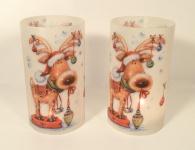2er Set Kerzenschirme für Teelicht Windlicht - Rudolf