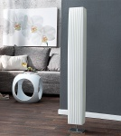 Stehleuchte / Stehlampe in weiß 15x15cm Höhe: 120cm Standlampe Lampe