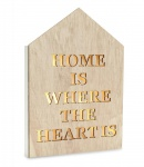 LED Holzschild Haus Home Heart Schild Wandschild Beleuchtung Herz