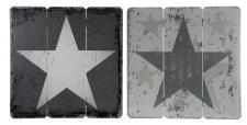 Holzschilder 2er Set Grau Sterne Stars Holzbild Wandobjekt Wandschild