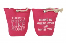 2er Set Türstopper in Pink mit Spruch Türpuffer Türhalter Kordel Home