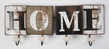 Wandgarderobe aus Metall Schriftzug Home Vintage 46x18x6cm Garderobe