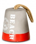 Türstopper 13 cm hoch Beton Rot Beach Tau Maritim Anker Stopper 1, 2kg Deko