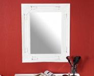 Spiegel Wandspiegel Flurspiegel weiß shabby chic 45x55x5cm vintage
