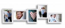 Galerierahmen in weiß 5 Fotos Bilderrahmen Fotogalerie Fotocollage