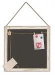 Quadratische Memotafel 45x45cm Kreide-Tafel Holz Vintage Shabby Chic
