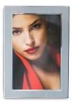levandeo Bilderrahmen 10x15cm Alu Aluminium silber Fotorahmen Portrait Glas