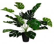 levandeo Monstera Kunstpflanze 55cm Hoch Kunstblume Grün Pflanze Im Topf Deko