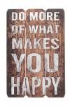 Holz-Schild Wandschild Spruch Happy Holzbild Wandbild Bild Vintage
