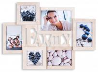 Bilderrahmen Holz 6 Fotos Family 53x38, 5 Fotorahmen Collage Galerie