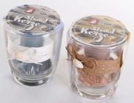 levandeo 2er Set Kerzen Glas Kerzengläser Maritim Strand Beach Kerzenständer