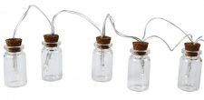 Lichterkette LED Kette Flaschenpost 10 Flaschen Glas Flaschenlicht Beleuchtung