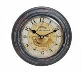 Wanduhr Metall 22cm Paris Cappuccino café Nostalgie Landhaus Uhr