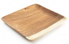 Holzschale Akazie 15cm quadratisch Schale Obstschale Salatschüssel
