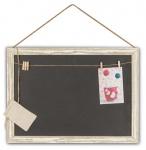 Rechteckige Memotafel 50x40cm Kreide-Tafel Holz Vintage Shabby Chic