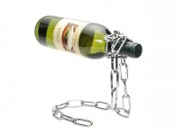 Weinflaschenhalter Kette 25x14x20cm magisch Metall Geschenk-Idee