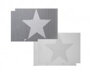 4er Set Platzset grau Stern Stars creme weiß Tischmatte Tischset