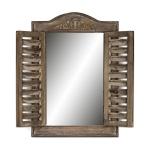 Wandspiegel B x H: 32x45cm Holz Braun Shabby Chic Vintage Spiegel