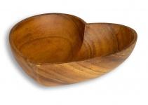 Schüssel Akazie 20x5, 5cm Herz Holz Schale Obstschale Obstkorb Brotkorb Design