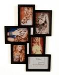 Fotocollage schwarz 6 Bilder 3D schwarze Fotogalerie Bilderrahmen