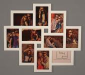 Fotogalerie Holz weiß 10 Fotos Glasscheiben Bilderrahmen Fotocollage