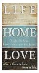 Wandbilder Set 41x25x2cm Holz Shabby Chic Vintage Landhausstil Schild