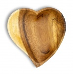 Holzschale Akazie 15cm Herz Design Snackschale Schale Obstschale Dekoschale